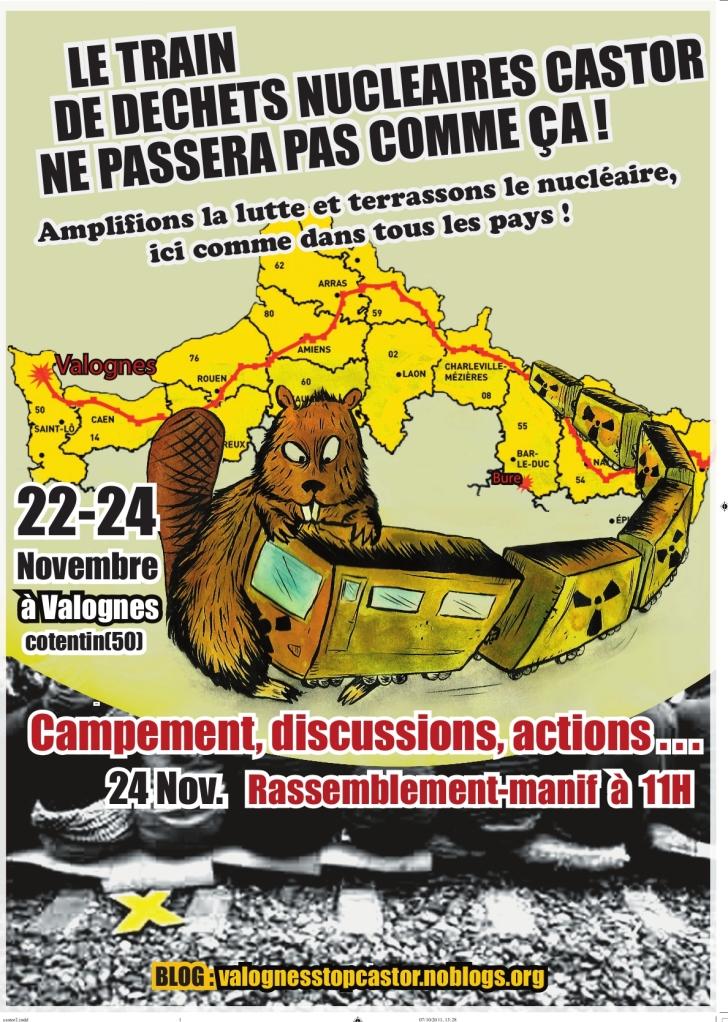 - Appel au camp anti-nucléaire de Valognes en novembre 2011. Stop castor ! dans - Nucléaire
